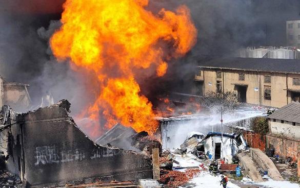 Взрыв на Китайском заводе - катастрофа