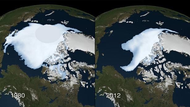 Масштабы таяние ледников