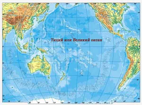 фото на карте тихий океан