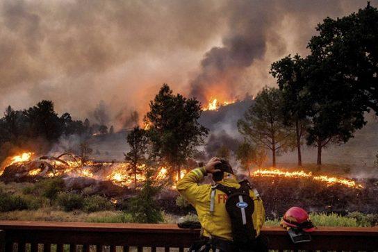 лесной пожар на западном побережье США
