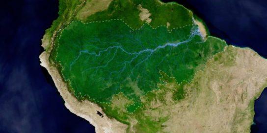 Леса Амазонки на карте