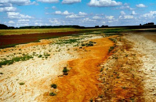 засоление почвы в Казахстане