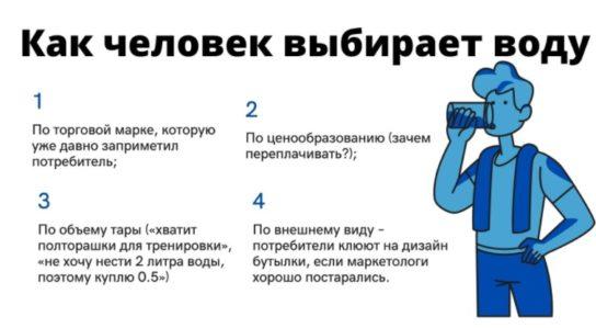 Как человек выбирает воду